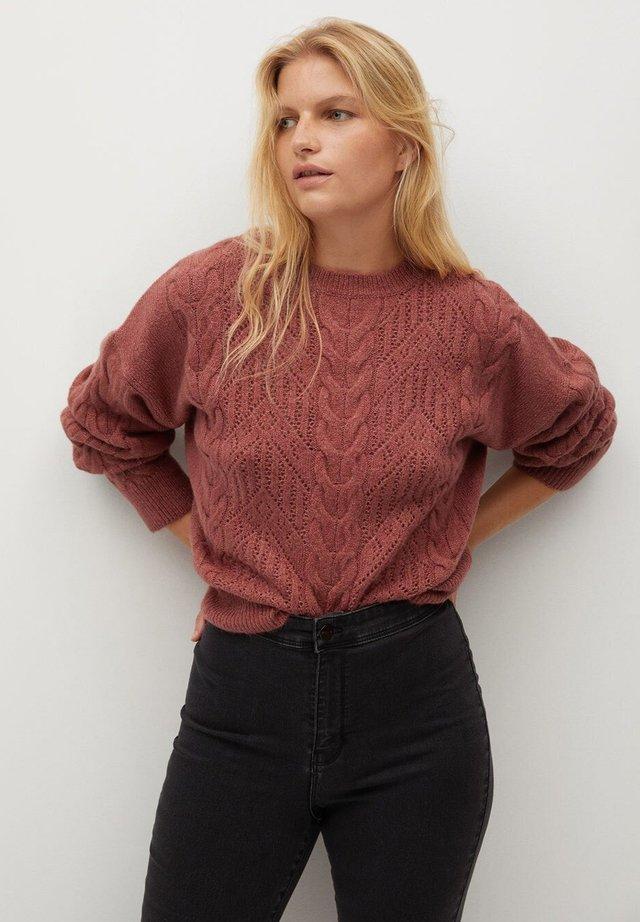 loch - Pullover - rosa