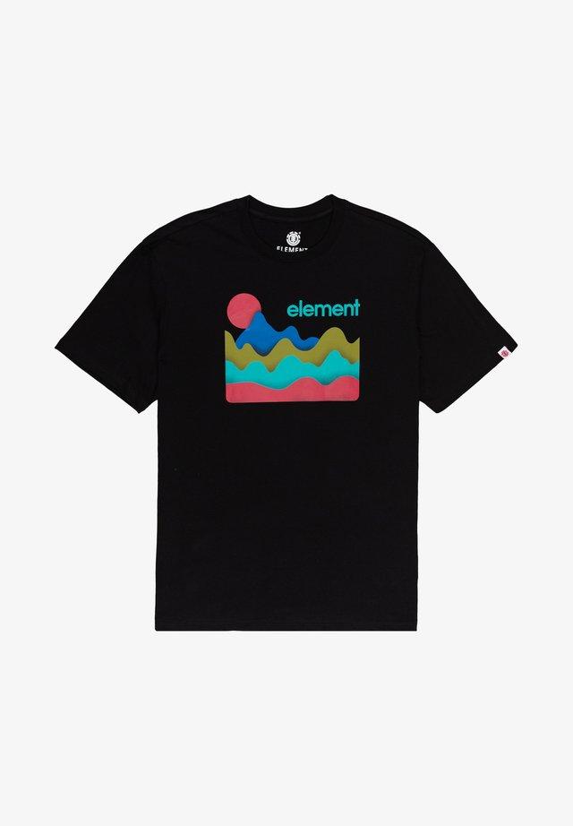 BASKIN - T-shirts print - flint black