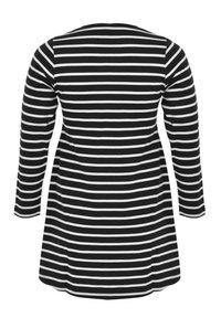 Yoek - Long sleeved top - black / off white - 1