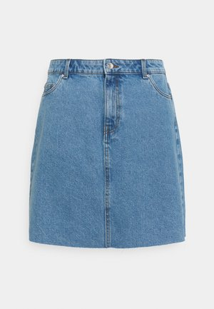 VMMIKKY RAW SKIRT MIX - Mini skirt - light blue denim