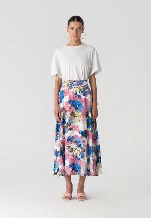 VISCON - A-line skirt - white