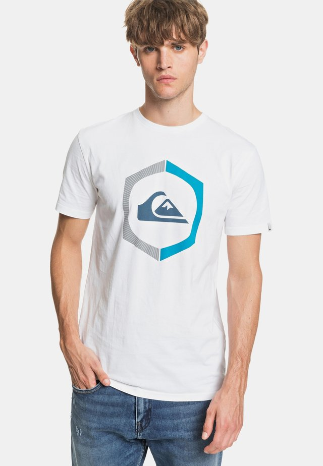 SURE THING - Print T-shirt - white