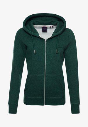 VINTAGE LOGO EMBROIDERED  - Zip-up sweatshirt - heritage pine green marl