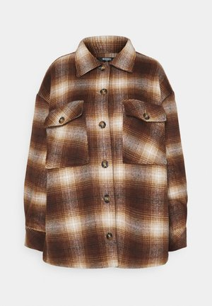 PLUS BRUSHED CHECK SHACKET - Summer jacket - multi