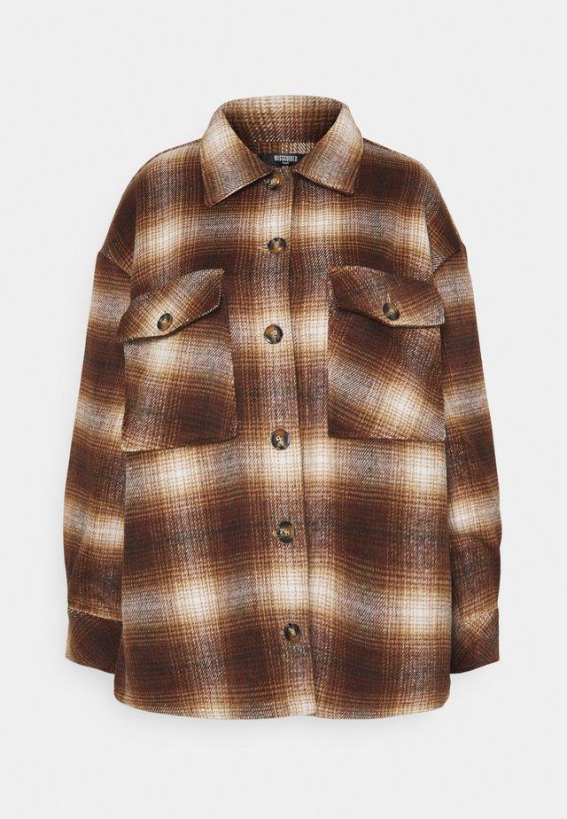 BRUSHED CHECK SHACKET - Summer jacket - multi
