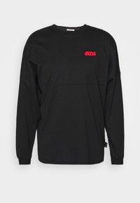 ROUND LOGO TEE - Long sleeved top - black