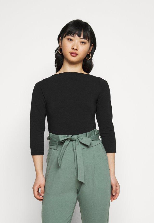 ONLLIVE LOVE BOATNECK - Long sleeved top - black