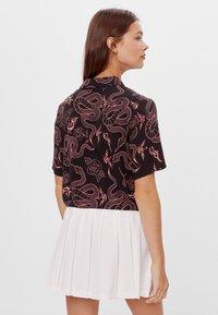 Bershka - Button-down blouse - black - 2