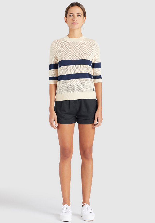 CHUMANE - T-shirt con stampa - sand/dark blue