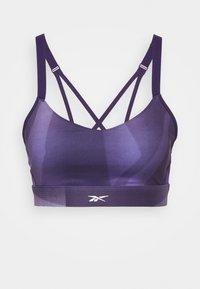 Reebok - STRAPPY BRA  - Light support sports bra - purple - 0