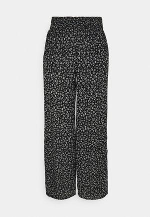 BEACHY WIDE LEG PANT - Trousers - black