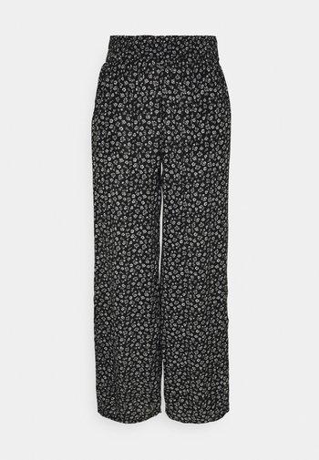 BEACHY WIDE LEG PANT - Bukser - black