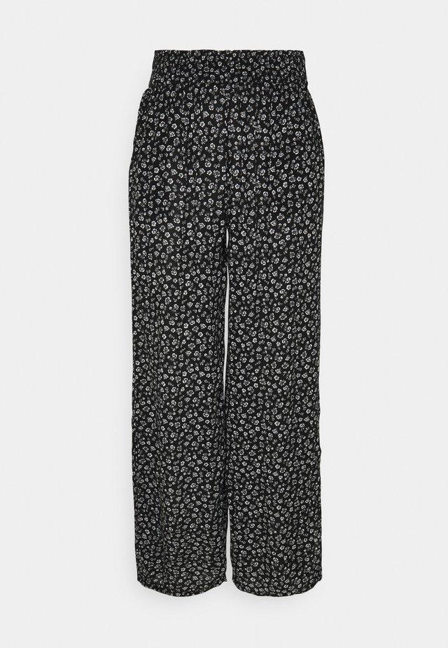 BEACHY WIDE LEG PANT - Pantalon classique - black