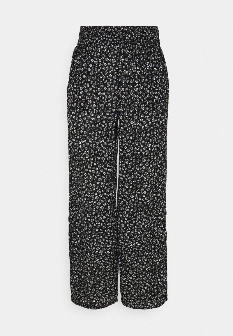 Hollister Co. - BEACHY WIDE LEG PANT - Trousers - black