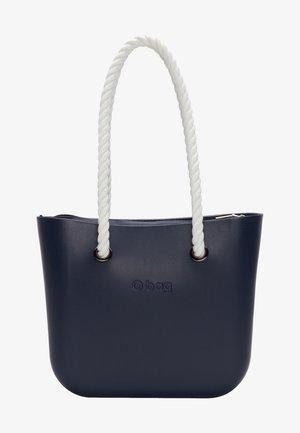Handbag - blu navy bianco