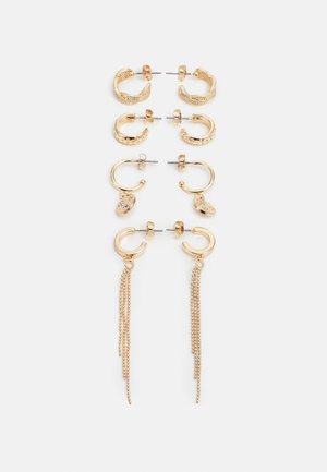 PCZALA EARRINGS 4 PACK - Boucles d'oreilles - gold-coloured