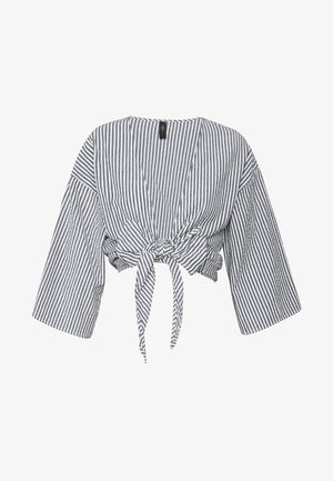 YASSISLA TIE SHIRT - Pyjama top - white/black