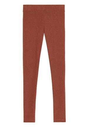 KOMFORT-LEGGINGS MIT GLITZER - Leggings - Stockings - orange - 152c - terracotta