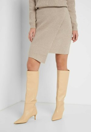 Wrap skirt - autumn beige