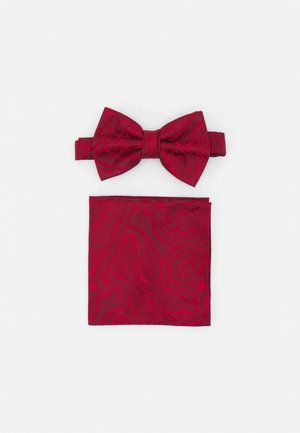 PAISLEY BOWTIE AND HANKIE SET - Bow tie - red
