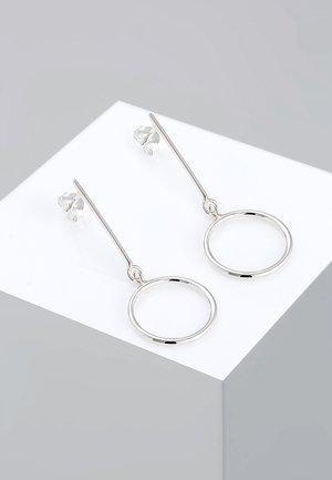 MINIMAL BASIC 925 STERLING SILBER  - Earrings - silver-coloured