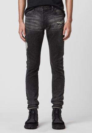 REX DAMAGED - Slim fit jeans - black