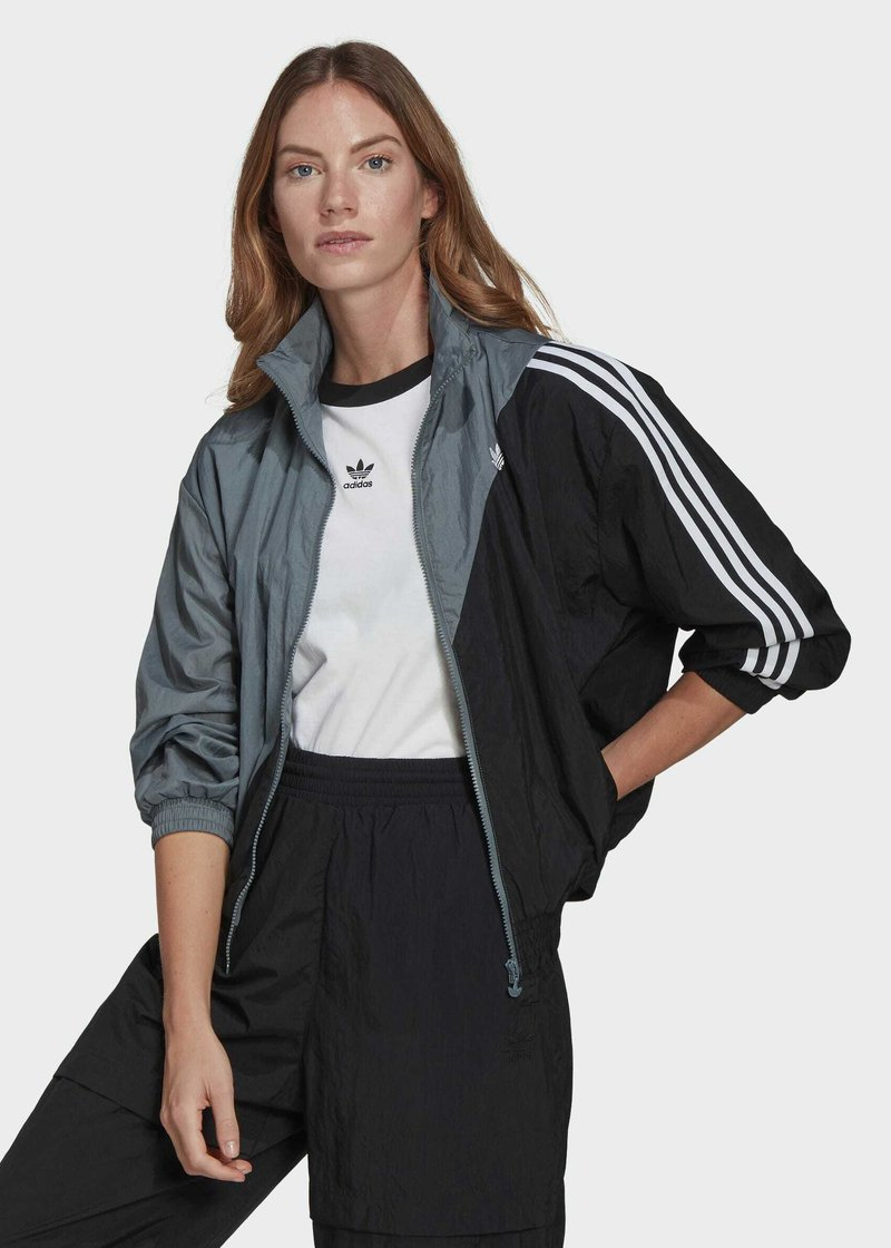 adidas Originals - ADICOLOR SLICED TREFOIL  - Training jacket - blue