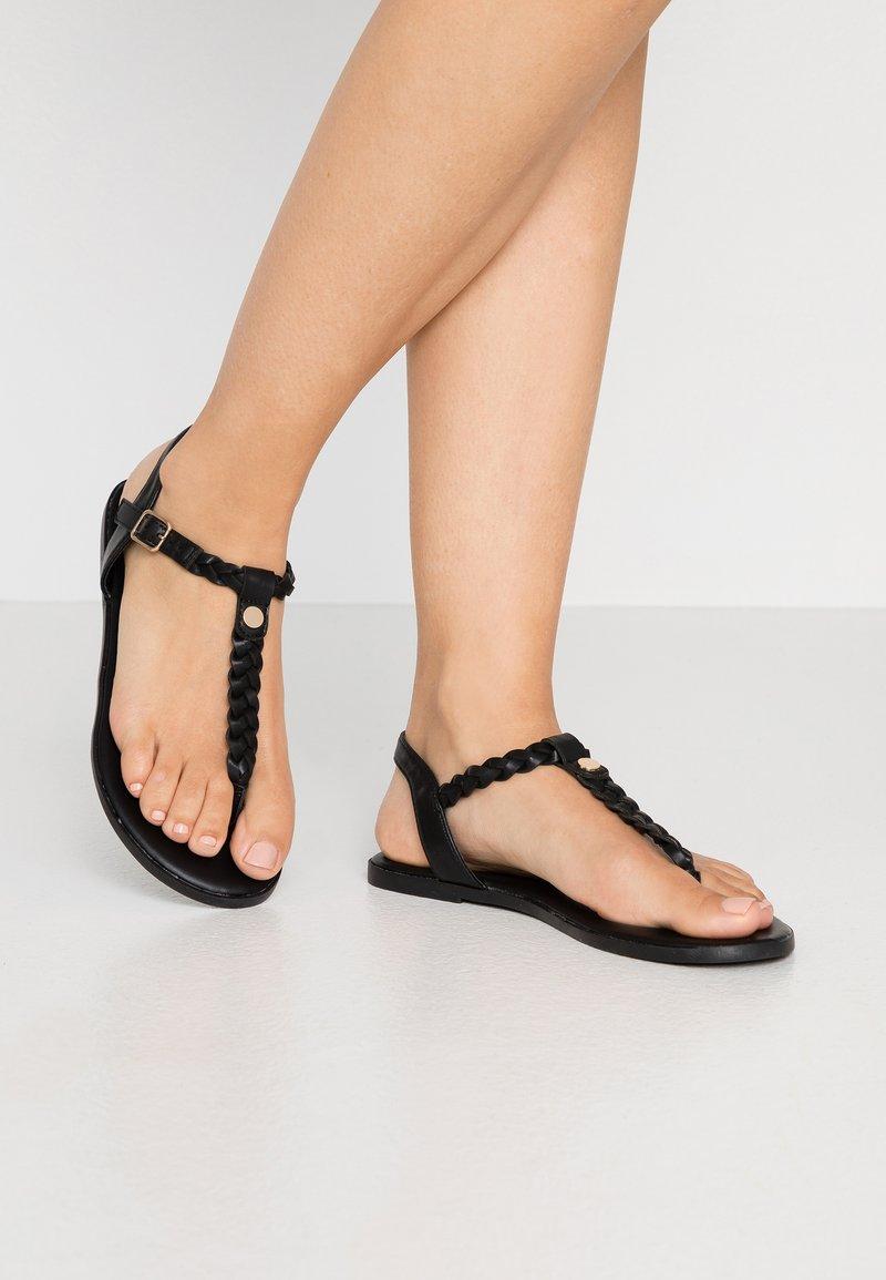 Anna Field Wide Fit - T-bar sandals - black