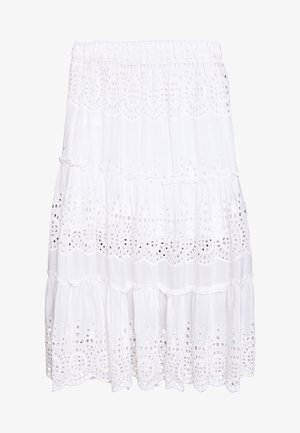 ANGELA SKIRT - Maxinederdele - white