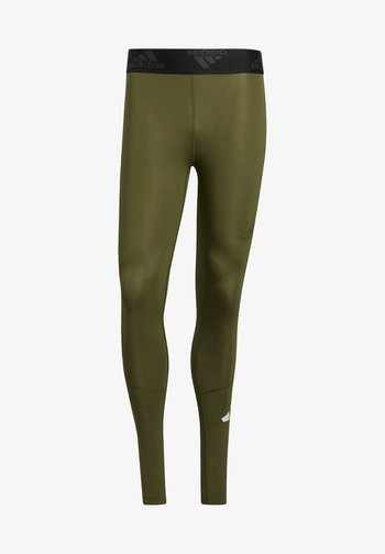 TURF 3 BAR LT PRIMEGREEN TECHFIT WORKOUT COMPRESSION LEGGINGS - Leggings - green