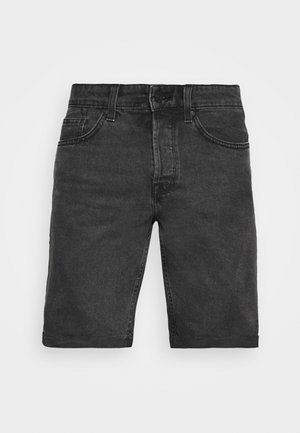 ONSAVI LIFE LOOSE - Denim shorts - black denim