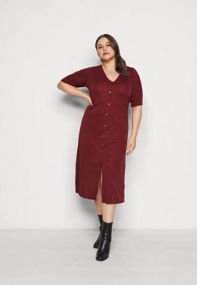 Day dress - oxblood