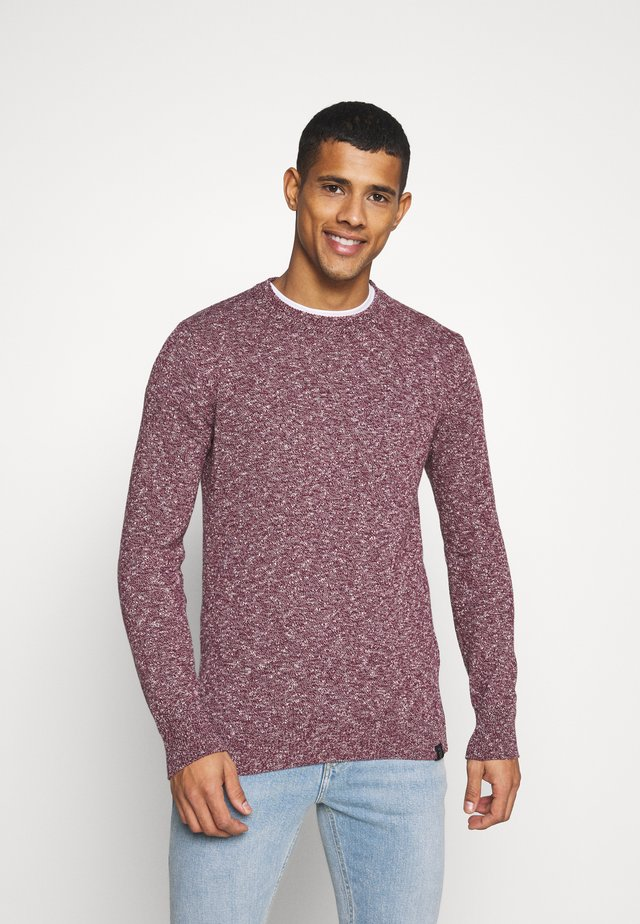 Jumper - bordeaux melange