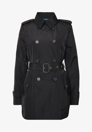 FAUX MEMORY SOFT TAFFETA TRENCH - Trenchcoat - black