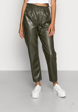ONLOVA NAIA FAUX PANT - Trousers - forest night