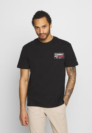 SCRIPT BOX BACK LOGO TEE UNISEX - Print T-shirt - black