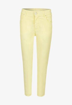 Slim fit jeans - gelb