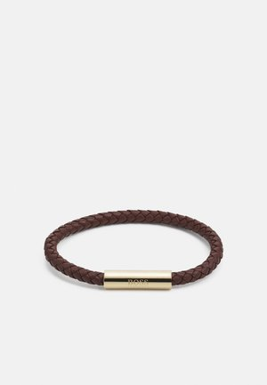 BRAIDED - Armband - brown