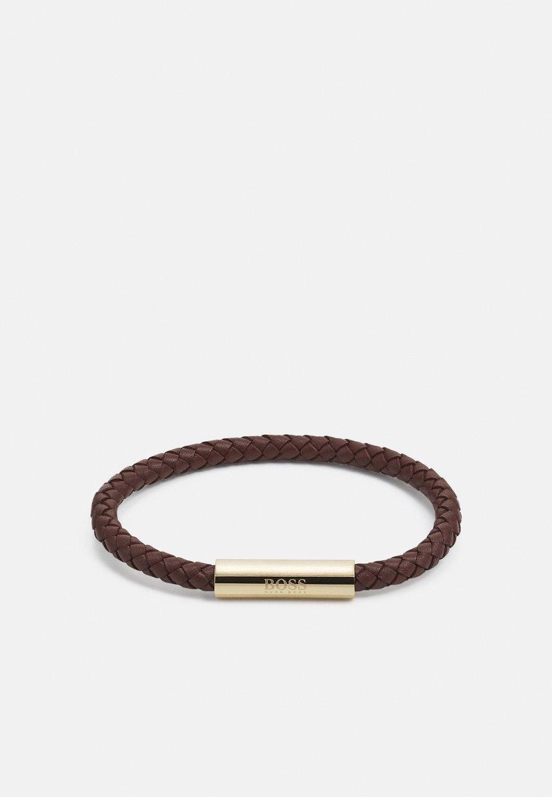 BOSS - BRAIDED - Bracelet - brown