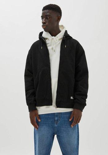 PREMIUM - Zip-up sweatshirt - black