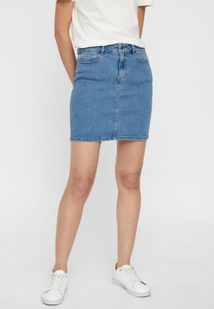 VMHOT SEVEN SKIRT - Jeansskjørt - light blue denim