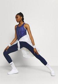 Nike Performance - TANK - Treningsskjorter - black/lapis/metallic silver - 1