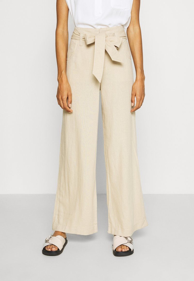 GAP - WIDE LEG SOLID - Trousers - wicker