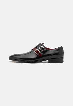 SCARFACE DOUBLE MONK - Slip-ons - college black/college red