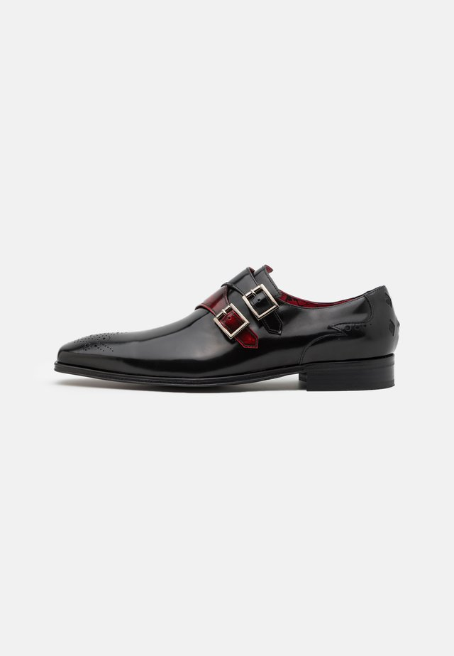SCARFACE DOUBLE MONK - Scarpe senza lacci - college black/college red