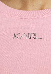 KARL LAGERFELD - RHINESTONE LOGO - Sweatshirt - pink - 4