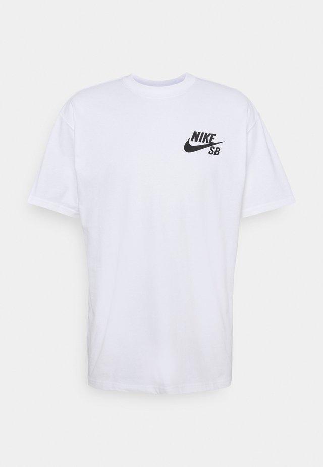 TEE LOGO UNISEX - Print T-shirt - white/black