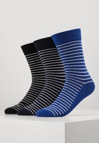 Jack & Jones - JACWIND SOCK 7 PACK - Socks - black/fir - navy blazer - chilli - 3