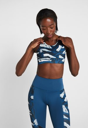 ABSTRACT CUT OUT BACK BRA - Sujetador deportivo - blue