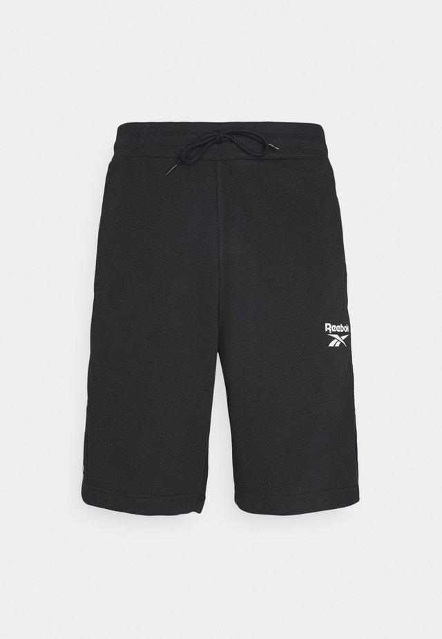 TAPE SHORT - Korte broeken - black